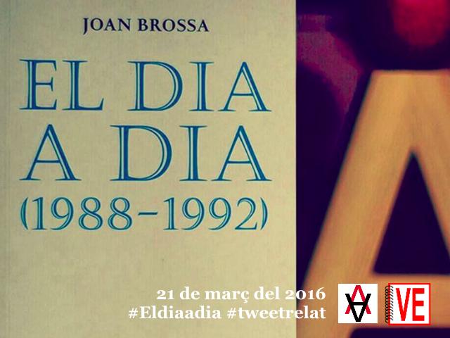 VullEscriure - Dia Mundial Poesia 2016 - Amb Fundació Joan Brossa - #tweetrelat #Eldiaadia