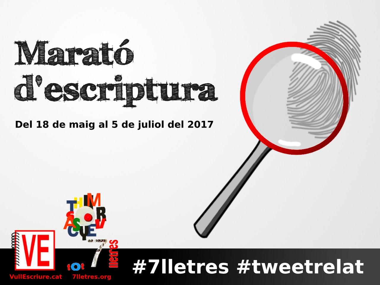 VullEscriure - Marató escriptura #7lletres #tweetrelat