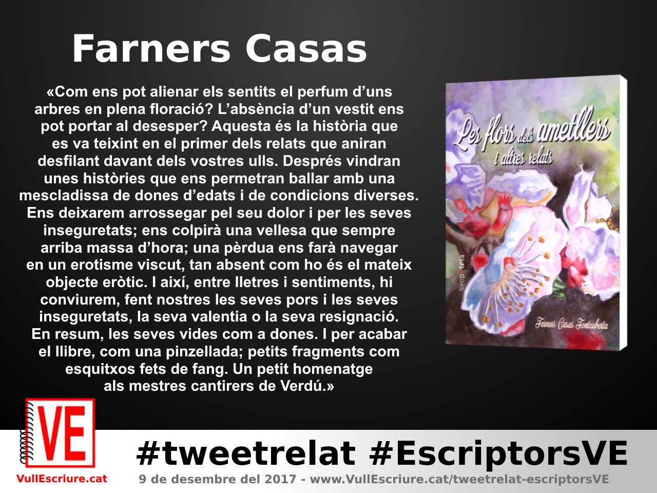 VullEscriure - Marató escriptura #tweetrelat #EscriptorsVE - Farnes Casas - Les flors dels ametllers i altres contes