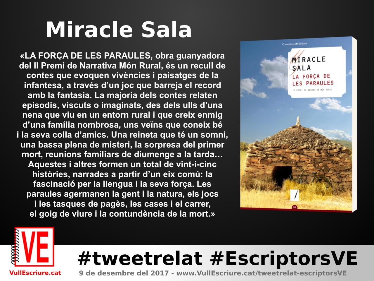 VullEscriure - Marató escriptura #tweetrelat #EscriptorsVE - Miracle Sala - La força de les paraules
