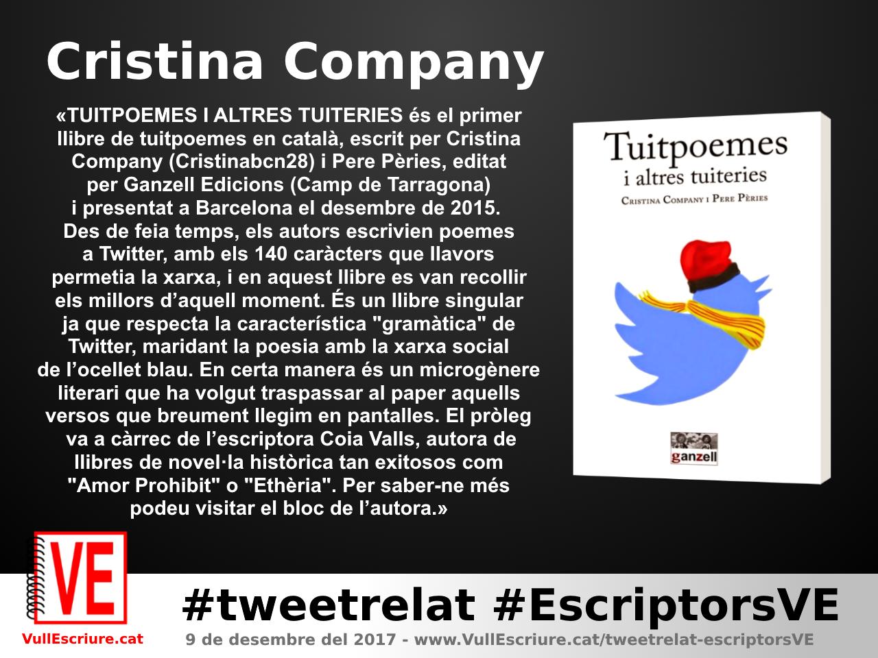 VullEscriure - Marató escriptura #tweetrelat #EscriptorsVE - Cristina Company - Tuitpoemes i altres tuiteries