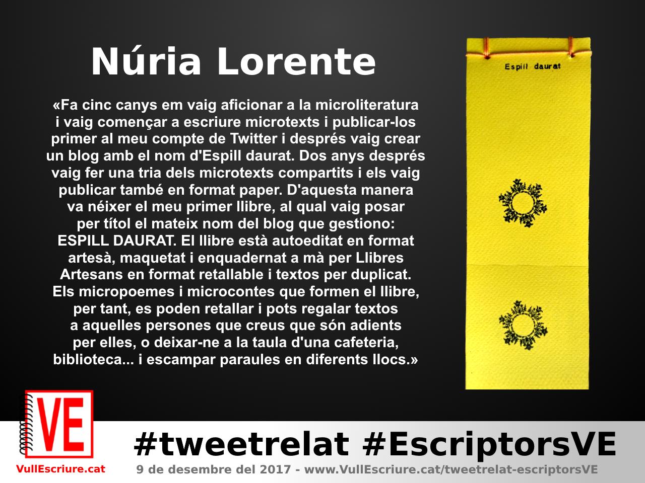 VullEscriure - Marató escriptura #tweetrelat #EscriptorsVE - Núria Lorente - Espill daurat