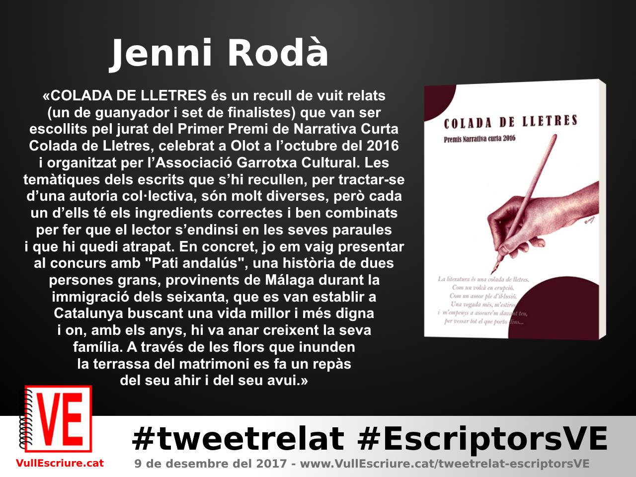 VullEscriure - Marató escriptura #tweetrelat #EscriptorsVE - Jenni Rodà - Colada de lletres