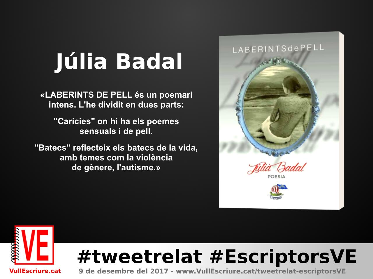 VullEscriure - Marató escriptura #tweetrelat #EscriptorsVE - Júlia Badal - Laberints de pell