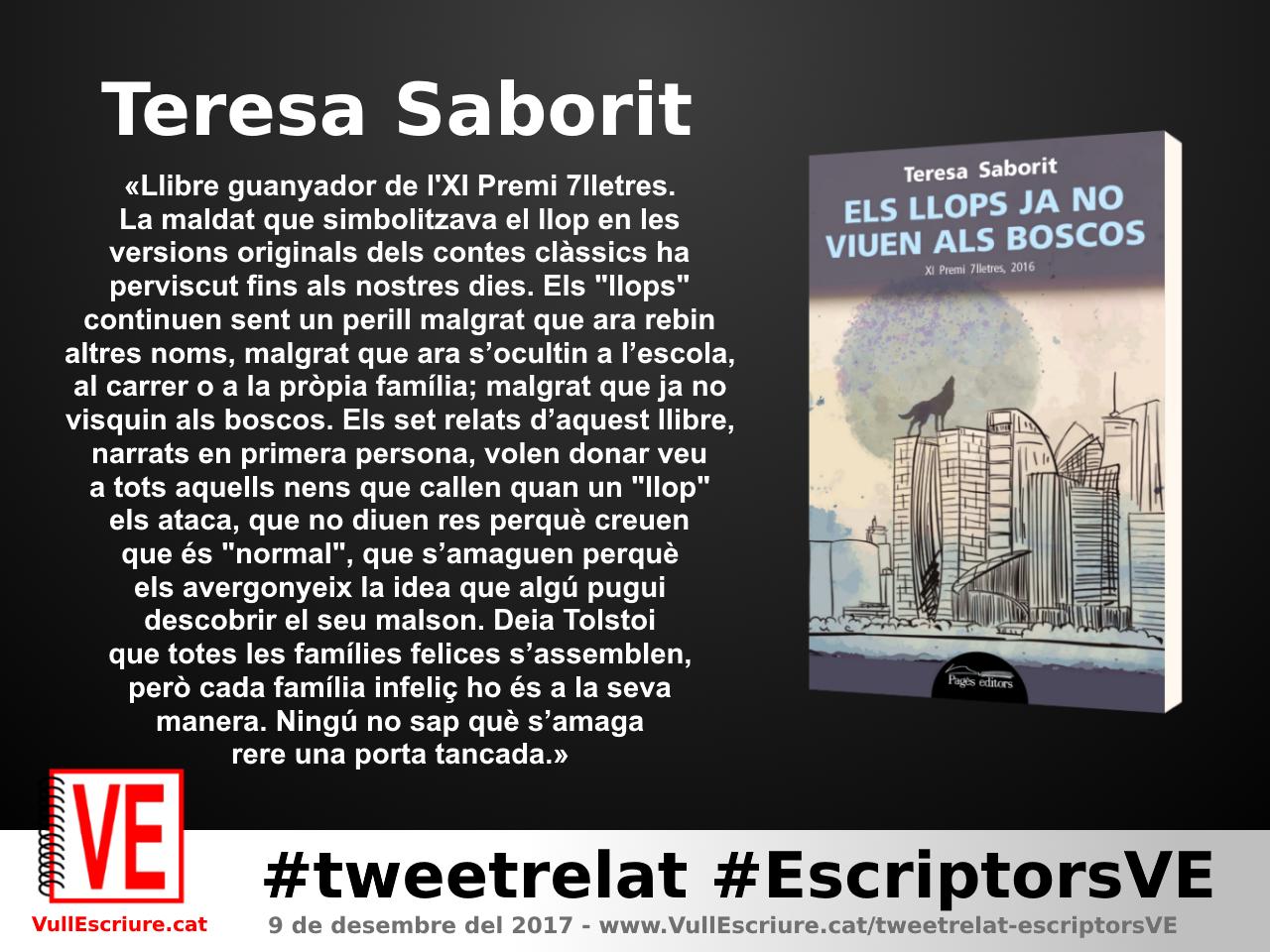 VullEscriure - Marató escriptura #tweetrelat #EscriptorsVE - Teresa Saborit - Els llops ja no viuen als boscos