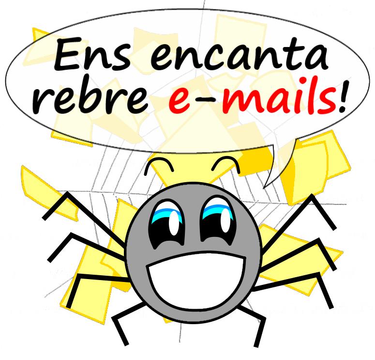 Aranya VullEscriure - Encanta rebre emails